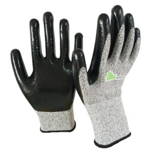 Smooth Nitrile Coated Cut Resistant Level-D Gloves WS-126