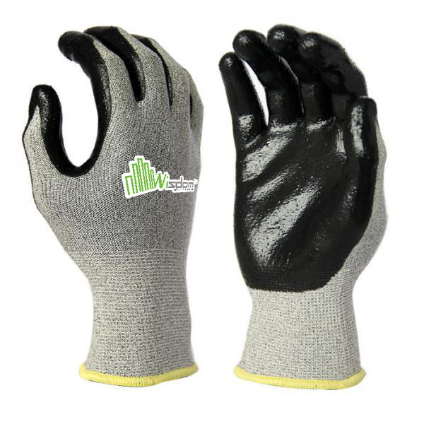 Smooth Nitrile Coated Cut Resistant Level-C Gloves WS-125