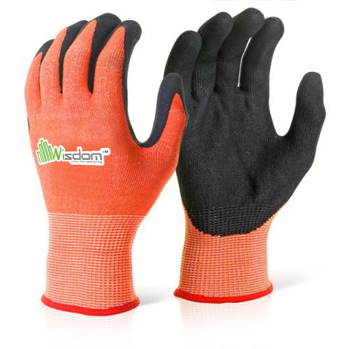 Micro-Foam Nitrile Ccoated Cut Resistant Level-D Gloves WS-122