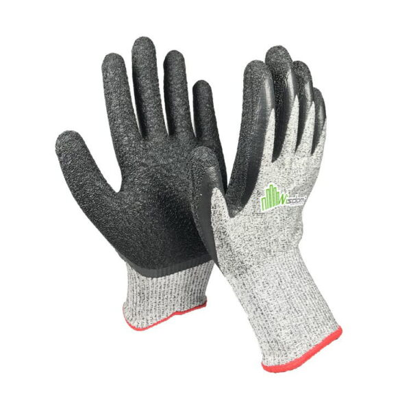 Crinkle Latex Coated Cut Resistant Level-E Gloves WS-153