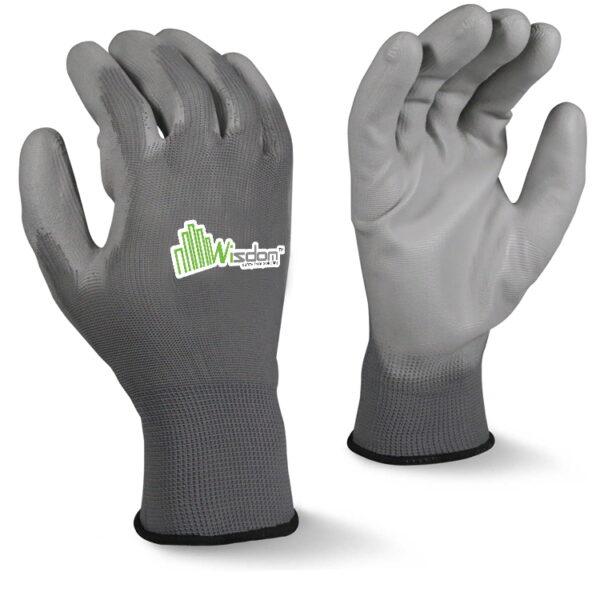 Gray Polyurethane(PU) Coated Gloves WS-502