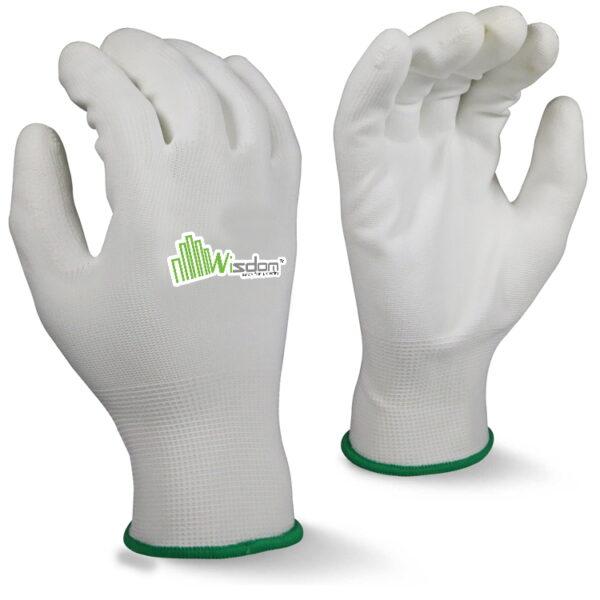White Polyurethane (PU) Coated Gloves WS-501